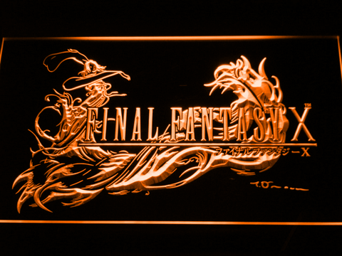Image of Final Fantasy X LED Neon Sign - Orange - SafeSpecial