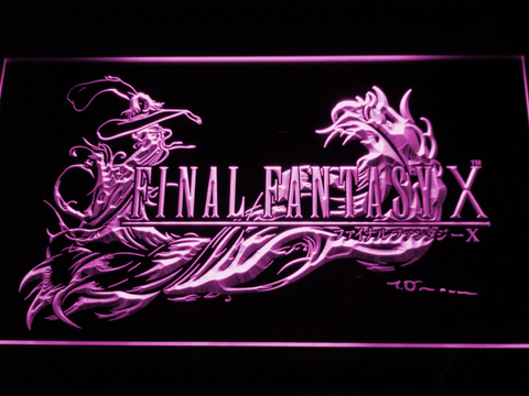 Image of Final Fantasy X LED Neon Sign - Purple - SafeSpecial