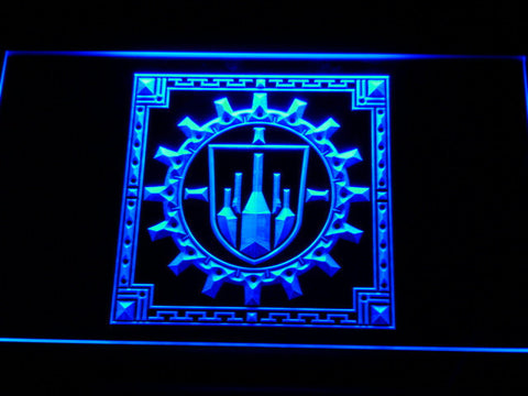 Final Fantasy XI - Bastok LED Neon Sign - Blue - SafeSpecial