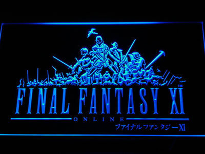 Final Fantasy XI LED Neon Sign - Blue - SafeSpecial