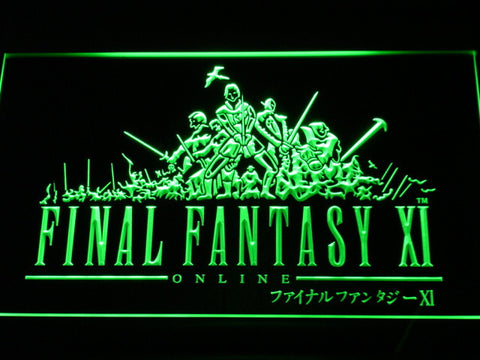 Image of Final Fantasy XI LED Neon Sign - Green - SafeSpecial