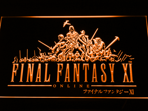 Image of Final Fantasy XI LED Neon Sign - Orange - SafeSpecial