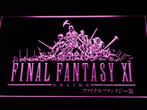 Image of Final Fantasy XI LED Neon Sign - Purple - SafeSpecial