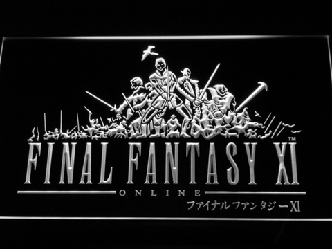 Image of Final Fantasy XI LED Neon Sign - White - SafeSpecial