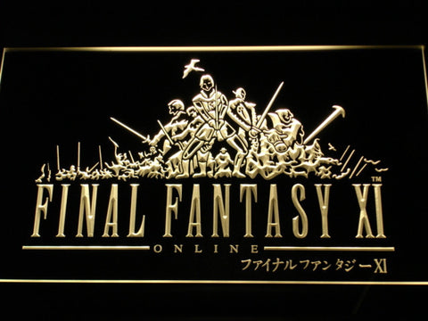 Image of Final Fantasy XI LED Neon Sign - Yellow - SafeSpecial
