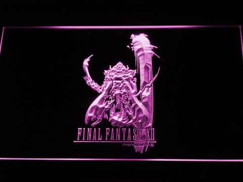 Image of Final Fantasy XII LED Neon Sign - Purple - SafeSpecial