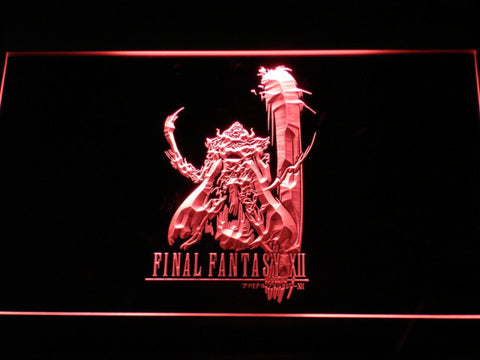 Image of Final Fantasy XII LED Neon Sign - Red - SafeSpecial