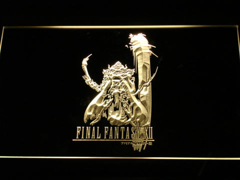 Image of Final Fantasy XII LED Neon Sign - Yellow - SafeSpecial