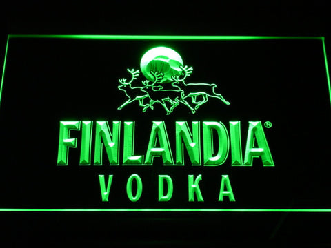 Image of Finlandia Vodka LED Neon Sign - Green - SafeSpecial