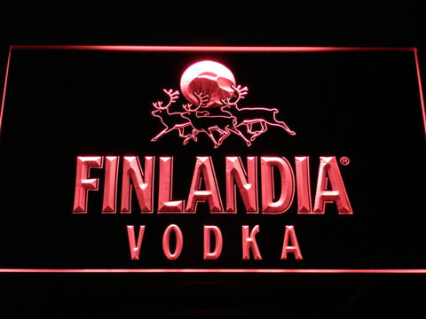 Image of Finlandia Vodka LED Neon Sign - Red - SafeSpecial