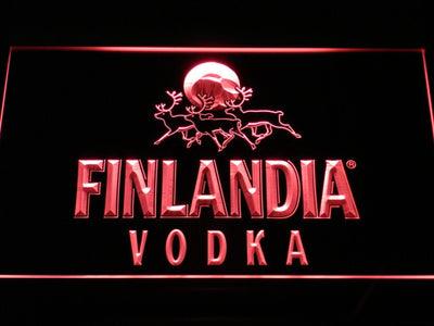 Finlandia Vodka LED Neon Sign - Red - SafeSpecial