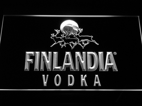 Image of Finlandia Vodka LED Neon Sign - White - SafeSpecial