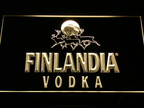 Image of Finlandia Vodka LED Neon Sign - Yellow - SafeSpecial