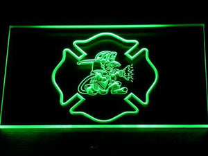 Fire Department Fighting Irish LED Neon Sign - Green - SafeSpecial