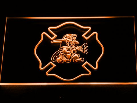 Fire Department Fighting Irish LED Neon Sign - Orange - SafeSpecial