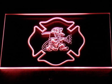 Fire Department Fighting Irish LED Neon Sign - Red - SafeSpecial