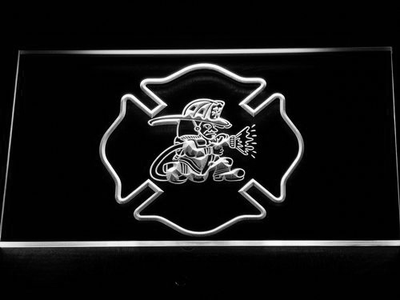 Fire Department Fighting Irish LED Neon Sign - White - SafeSpecial