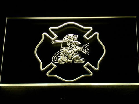 Fire Department Fighting Irish LED Neon Sign - Yellow - SafeSpecial