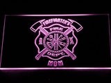 Fire Department Firefighter's Mom LED Neon Sign - Purple - SafeSpecial