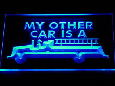 Fire Department Firetruck LED Neon Sign - Blue - SafeSpecial
