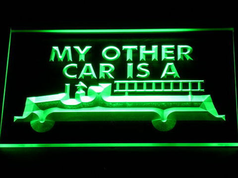 Image of Fire Department Firetruck LED Neon Sign - Green - SafeSpecial