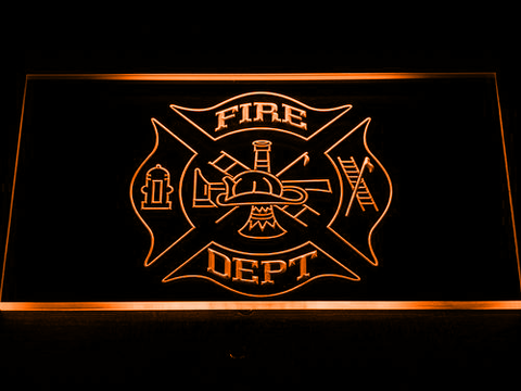 Image of Fire Department LED Neon Sign - Orange - SafeSpecial
