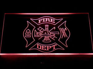 Fire Department LED Neon Sign - Red - SafeSpecial