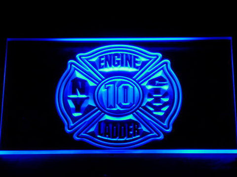 Image of Fire Department New York LED Neon Sign - Blue - SafeSpecial