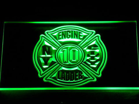 Image of Fire Department New York LED Neon Sign - Green - SafeSpecial