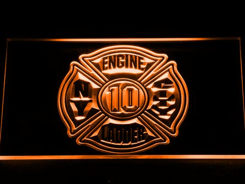 Image of Fire Department New York LED Neon Sign - Orange - SafeSpecial