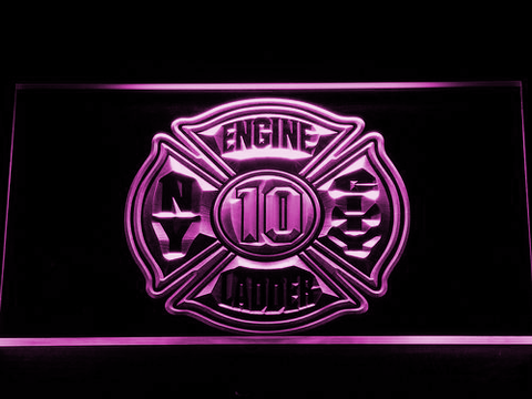 Image of Fire Department New York LED Neon Sign - Purple - SafeSpecial