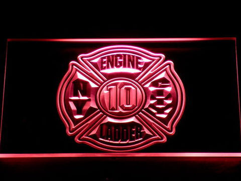 Image of Fire Department New York LED Neon Sign - Red - SafeSpecial