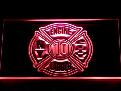 Fire Department New York LED Neon Sign - Red - SafeSpecial