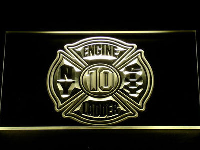 Fire Department New York LED Neon Sign - Yellow - SafeSpecial
