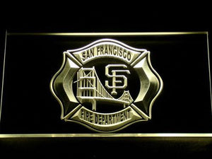 Fire Department San Francisco LED Neon Sign - Yellow - SafeSpecial