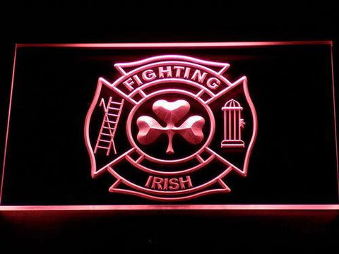 Fire Department Shamrock LED Neon Sign - Red - SafeSpecial