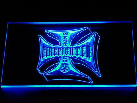 Image of Fire Fighter West Coast LED Neon Sign - Blue - SafeSpecial