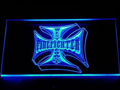 Fire Fighter West Coast LED Neon Sign - Blue - SafeSpecial