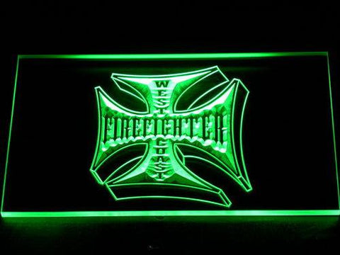 Image of Fire Fighter West Coast LED Neon Sign - Green - SafeSpecial