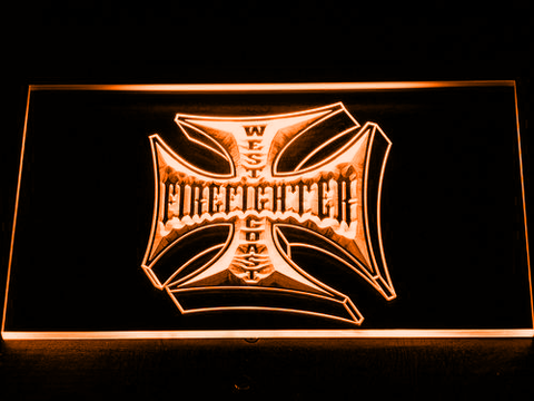Image of Fire Fighter West Coast LED Neon Sign - Orange - SafeSpecial