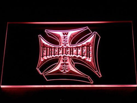 Image of Fire Fighter West Coast LED Neon Sign - Red - SafeSpecial