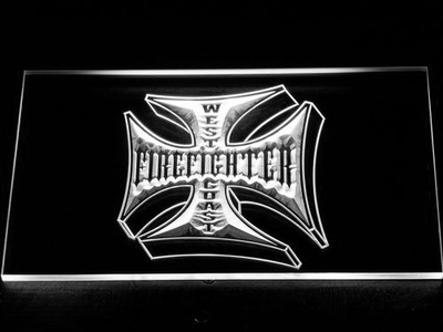Fire Fighter West Coast LED Neon Sign - White - SafeSpecial