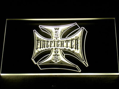 Fire Fighter West Coast LED Neon Sign - Yellow - SafeSpecial