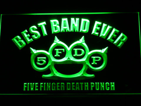Five Finger Death Punch Best Band Ever LED Neon Sign - Green - SafeSpecial