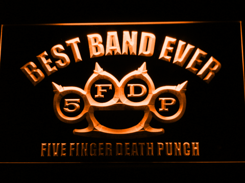 Five Finger Death Punch Best Band Ever LED Neon Sign - Orange - SafeSpecial