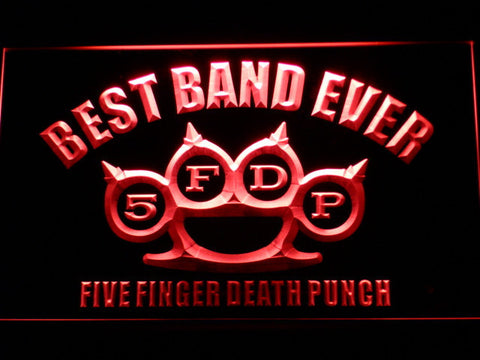 Five Finger Death Punch Best Band Ever LED Neon Sign - Red - SafeSpecial