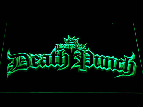Five Finger Death Punch Gothic LED Neon Sign - Green - SafeSpecial