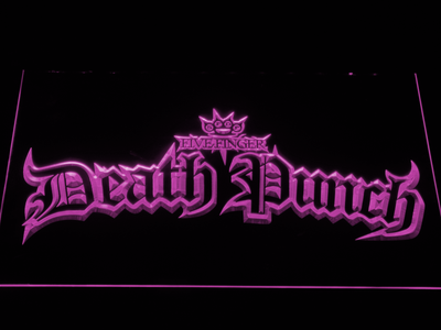 Five Finger Death Punch Gothic LED Neon Sign - Purple - SafeSpecial