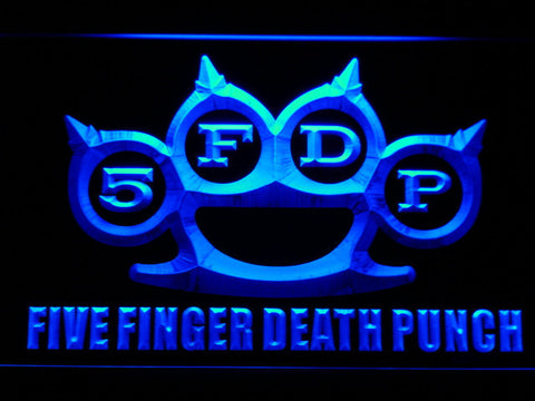 Five Finger Death Punch LED Neon Sign - Blue - SafeSpecial