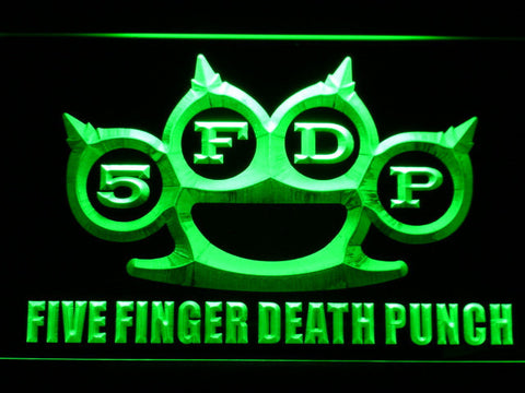 Five Finger Death Punch LED Neon Sign - Green - SafeSpecial